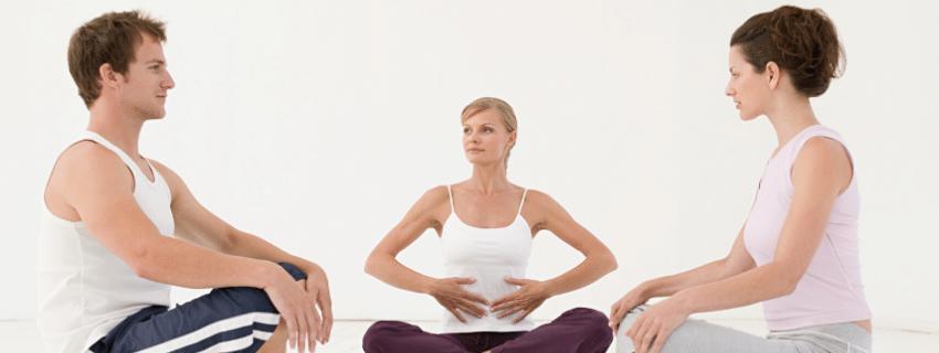 Une technique de respiration du yoga.